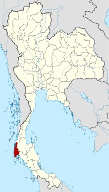 Location of Phang Nga within Thailand