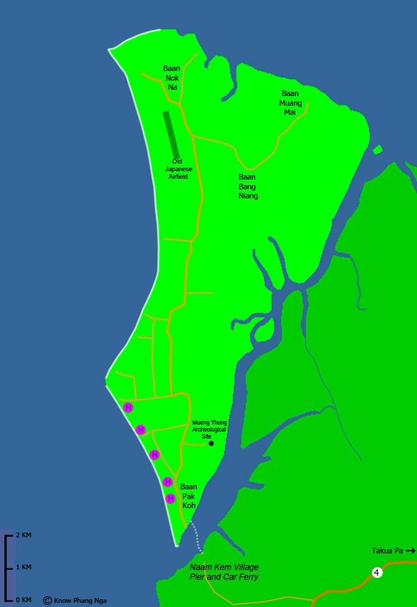 Map of Koh Kho Khao Island